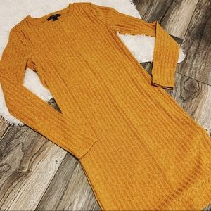 Ribbed Knit Yellow Dress x Forever 21